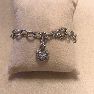 Judith Ripka Sterling Charm Bracelet